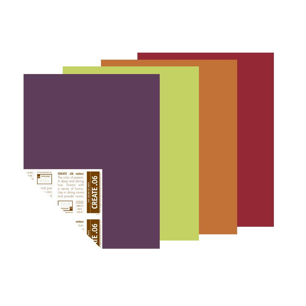 YOLO Colorhouse BOHO Palette 12 in. x 16 in. Pre-Painted Big Chip Sample (4-Pack)-DISCONTINUED