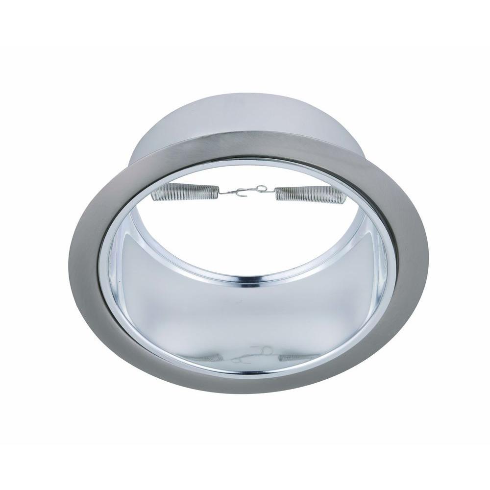 Elegant lighting 6 in line voltage recessed chrome reflector with elegant lighting 6 in line voltage recessed chrome reflector with brushed nickel trim ring arubaitofo Choice Image