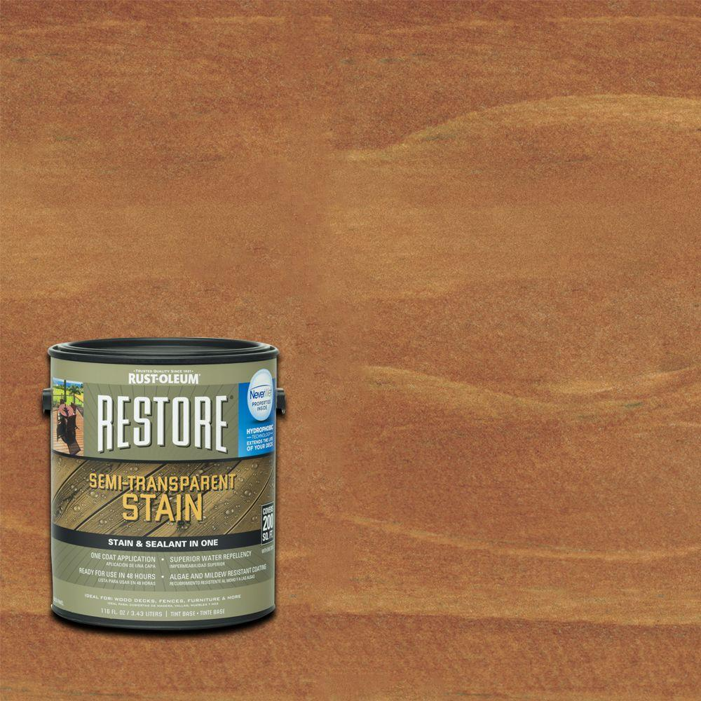 1 gal. Semi-Transparent Stain California Rustic with NeverWet