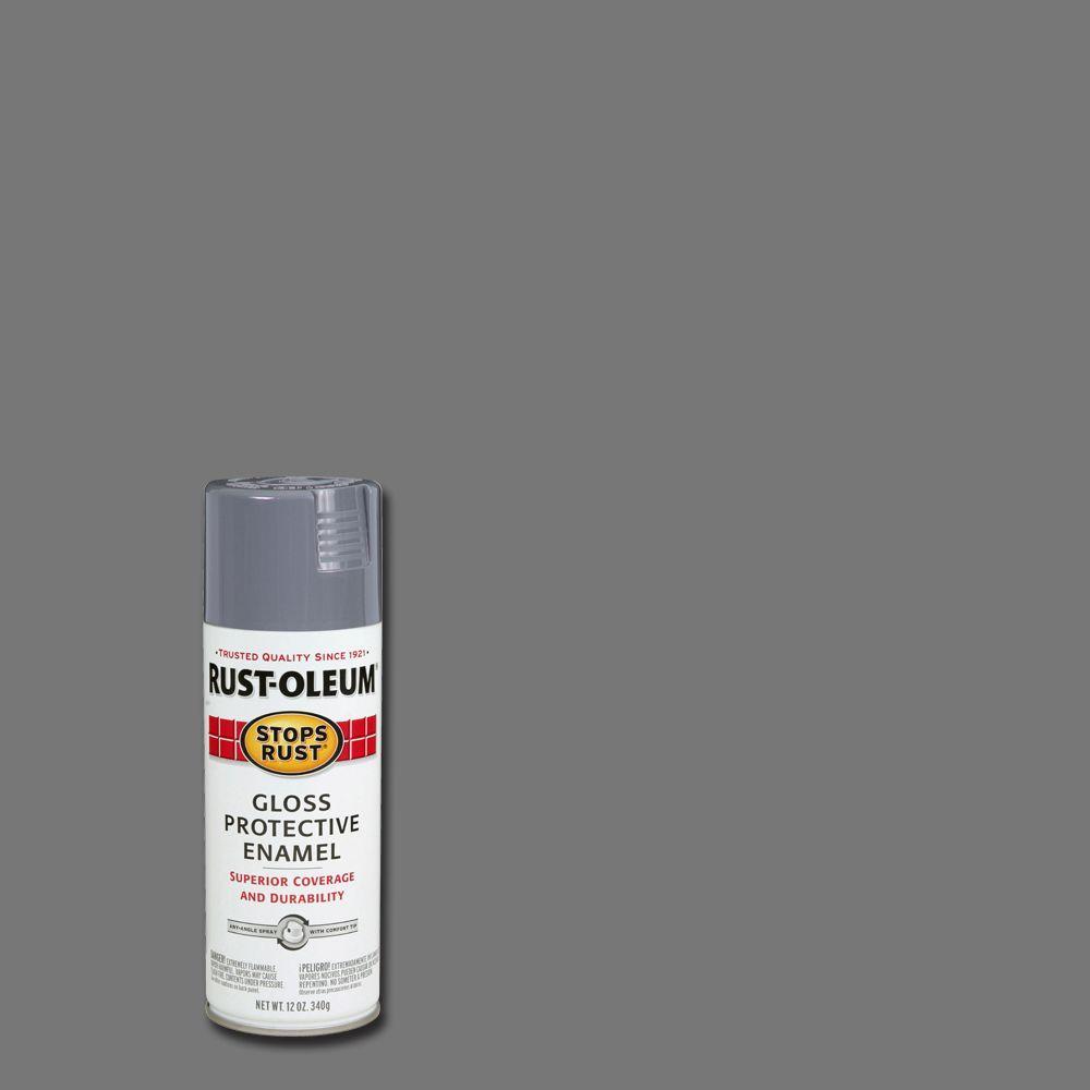 12 oz. Protective Enamel Gloss Smoke Gray Spray Paint