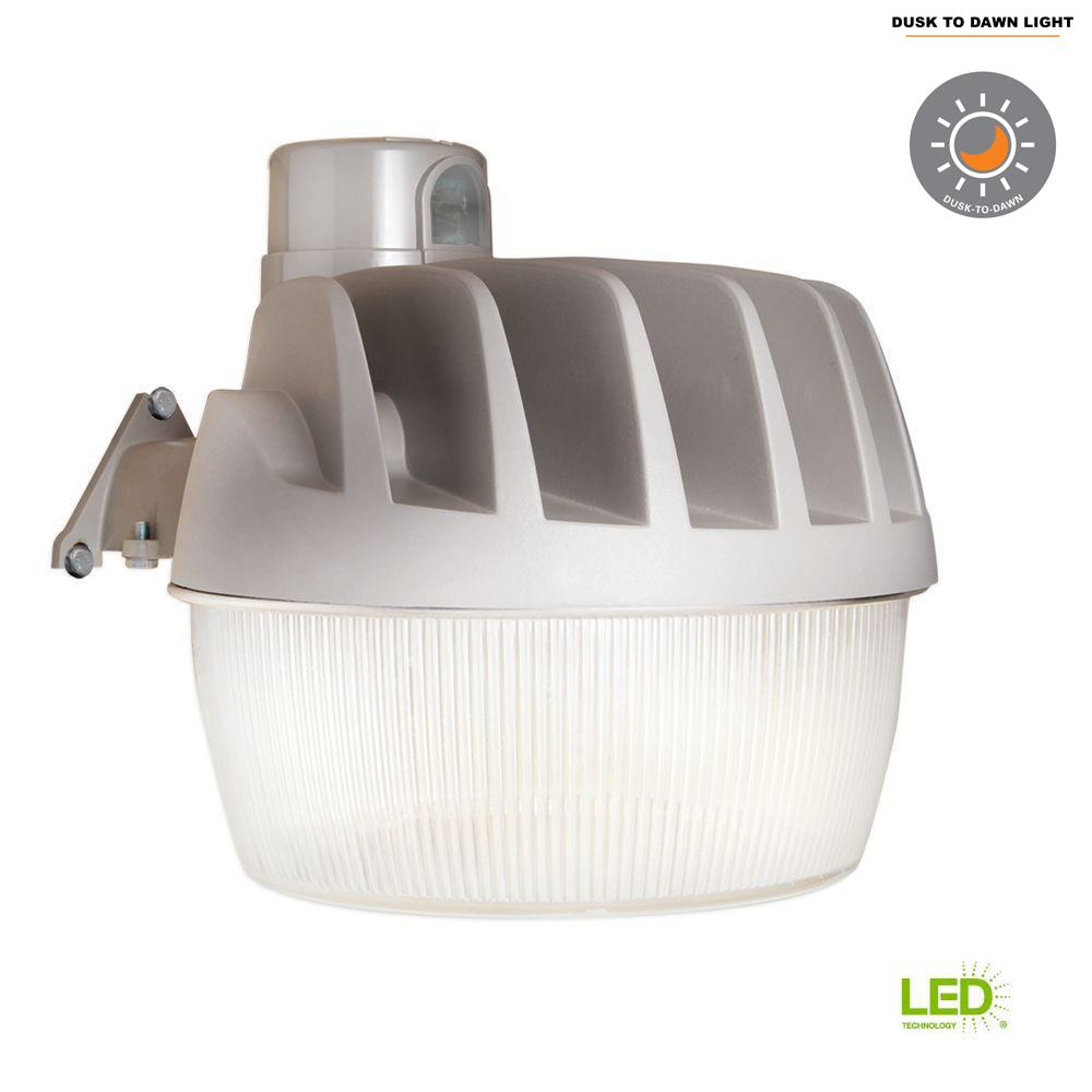 Gray Outdoor Integrated LED Area Dusk to Dawn Security Light with
