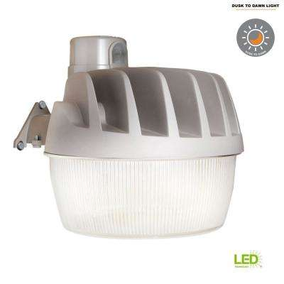 Gray Outdoor Integrated LED Area Dusk to Dawn Security Light with Replaceable Photocell, 3500 Lumens, 5000K Daylight