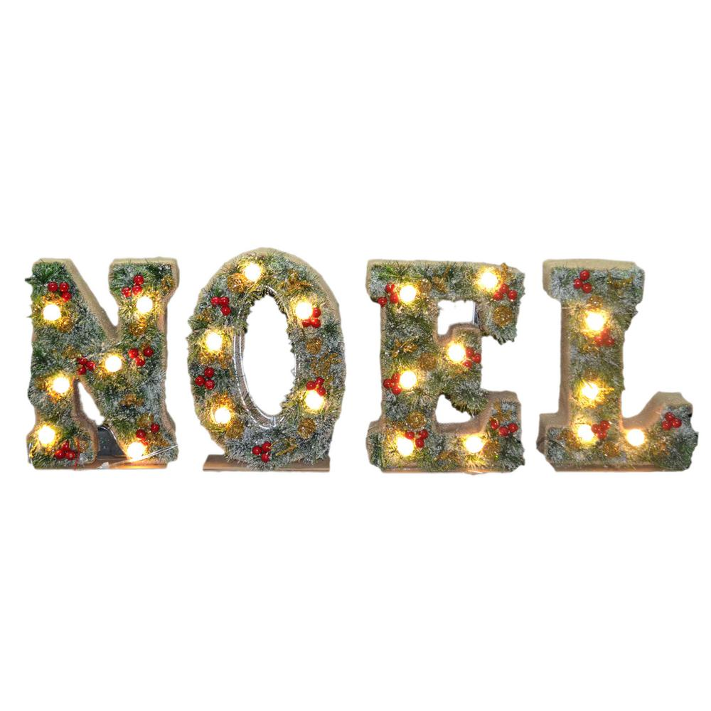 36 in. Pre-Lit Noel Decoration