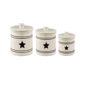Park Designs Country Star Cream Canisters (Set of 3) 300-694 ...