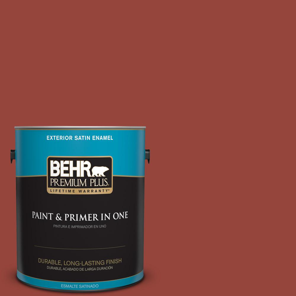 1 gal. #PPU2-17 Morocco Red Satin Enamel Exterior Paint