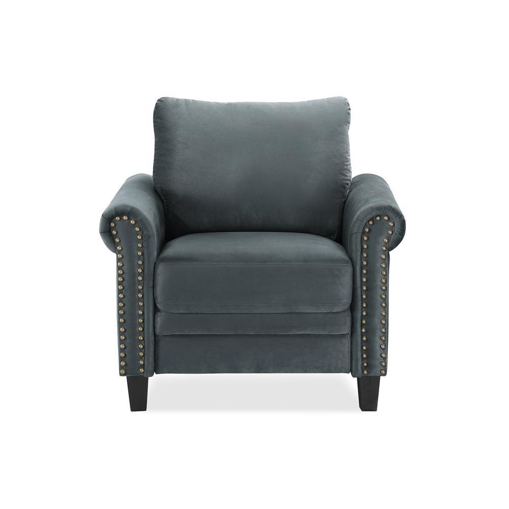 Lifestyle Solutions Dark Grey Ashford Collection Armchair Ashford