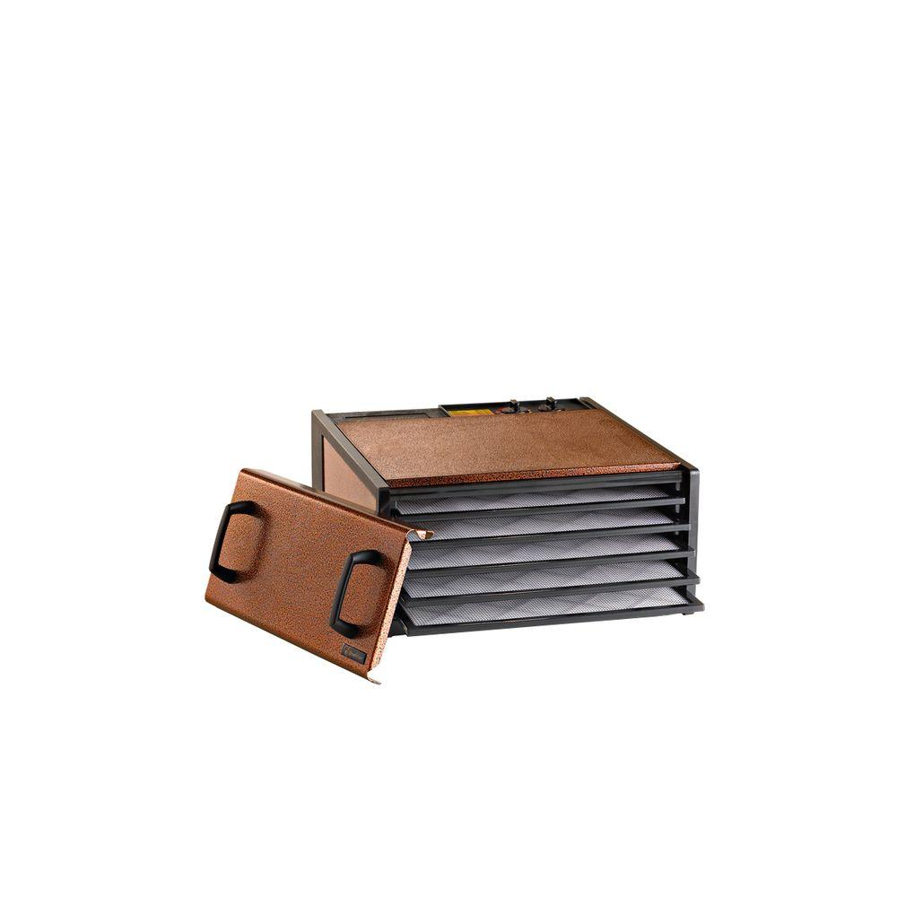 Excalibur Deluxe Powder Coated 5 Tray Food Dehydrator in Antique Copper