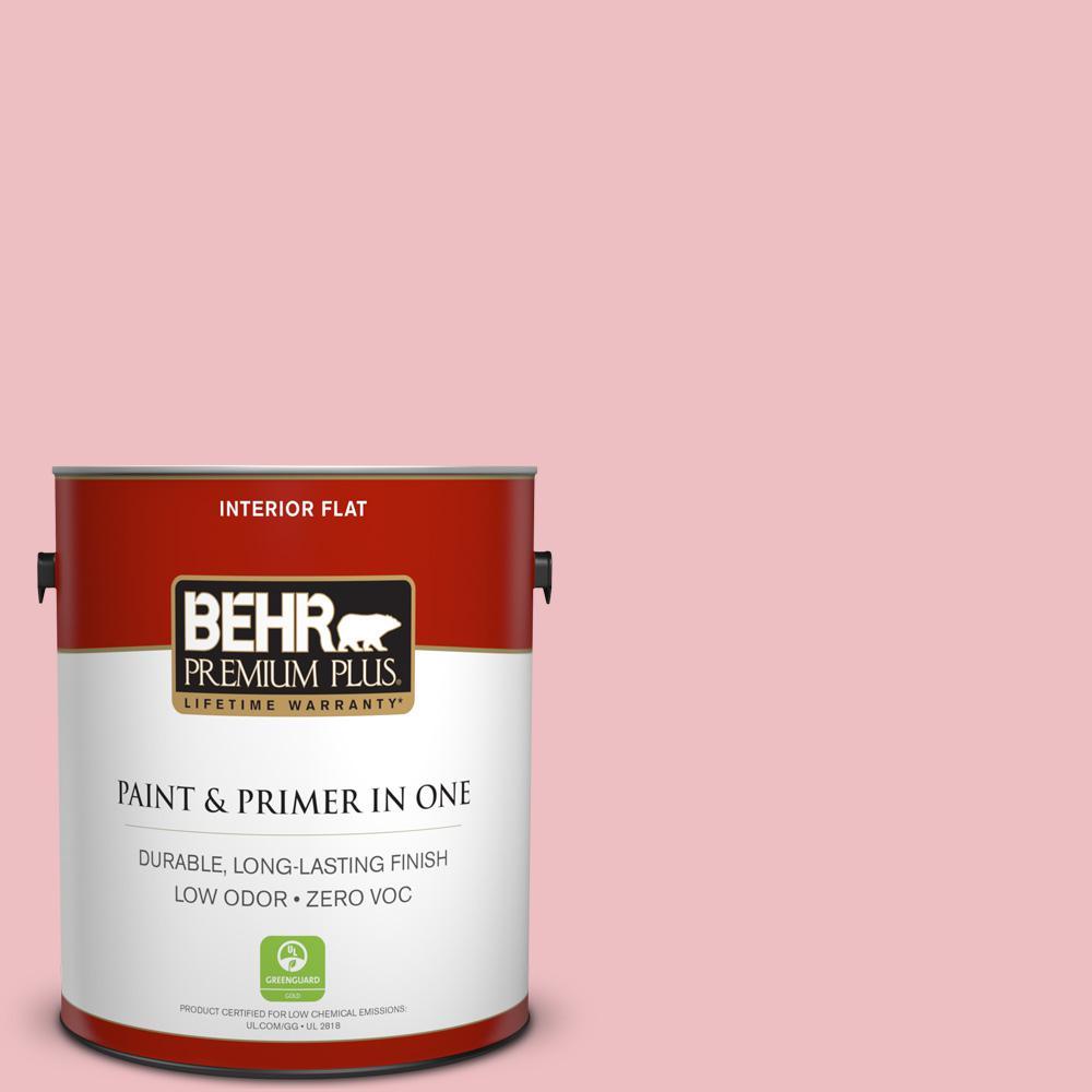 1 gal. #130C-2 Cafe Pink Flat Zero VOC Interior Paint and