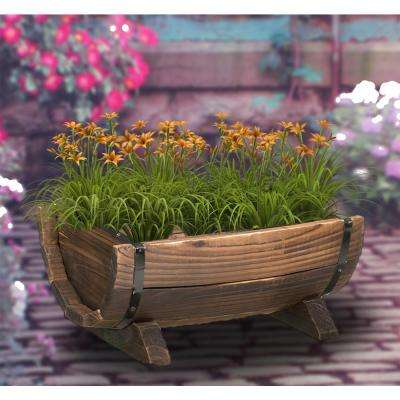 Half Barrel Garden Planter - Small