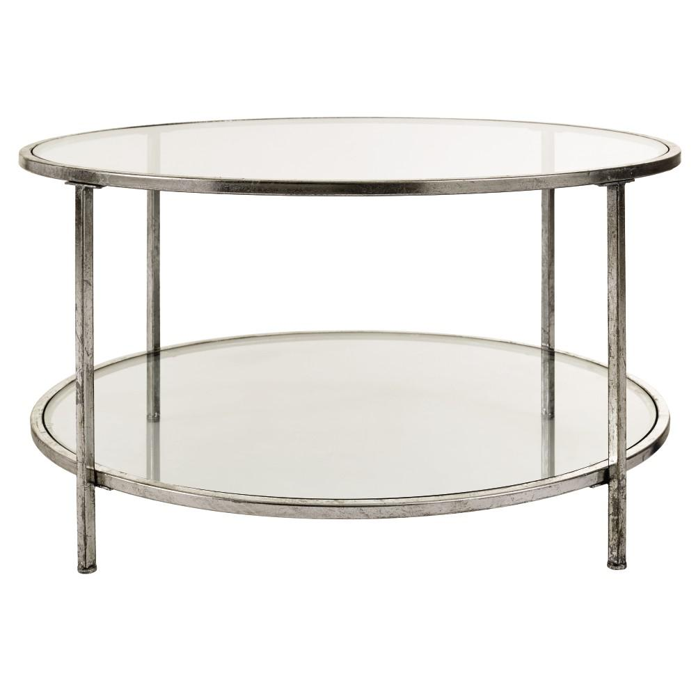 Round Silver Coffee Table