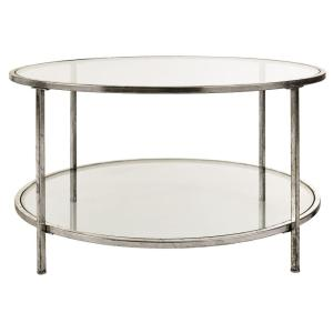 Bella Glass Aged Silver Coffee Table