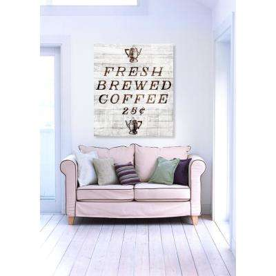 "20 in. H x 24 in. W ""Fresh Brewed Coffee"" by ""The Oliver Gal Artist Co."" Printed Framed Canvas Wall Art"