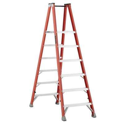 6 ft. Fiberglass Twin Platform Step Ladder with 300 lbs. Load Capacity Type 1A Duty Rating