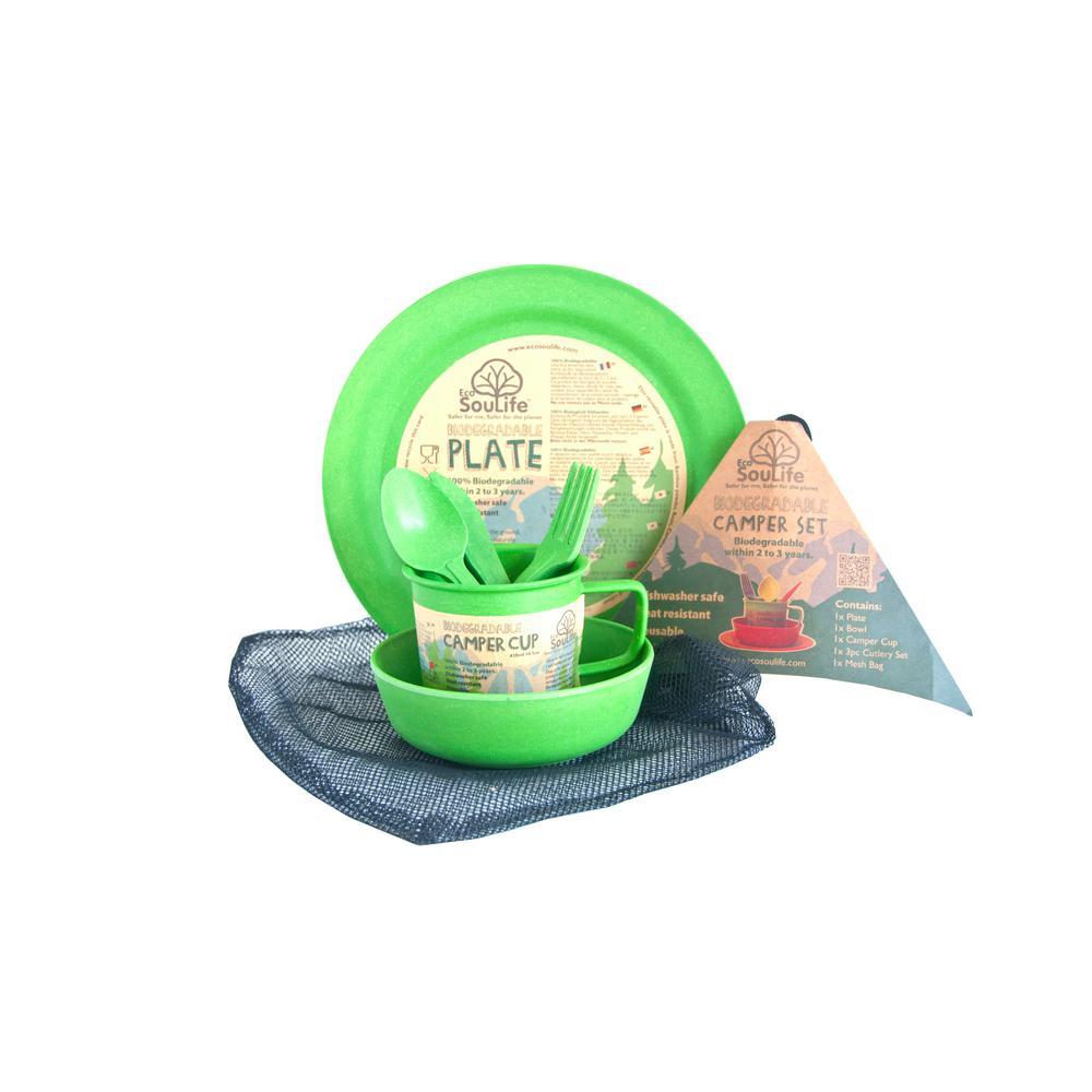 Green Bamboo Camper Set