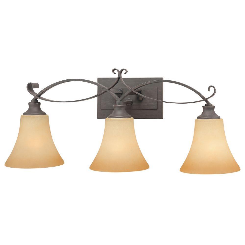 Thomas Lighting Magnolia 3-Light Painted Bronze Bath Fixture-DISCONTINUED