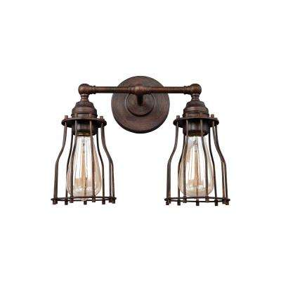 Calgary 2-Light Parisian Bronze Bath Light