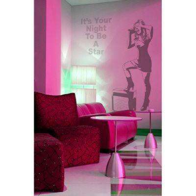 45 in. x 24 in. It's Your Night To Be A Star Wall Decal