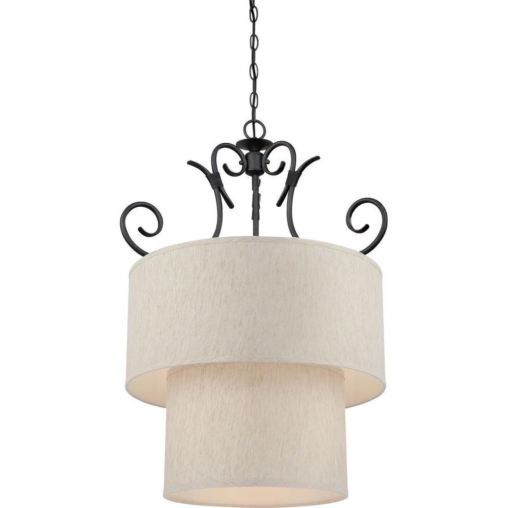 Volume Lighting Fairfield 9-Light Antique Iron Chandelier