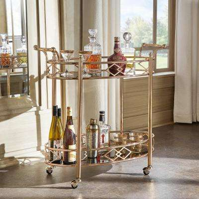 Ariella Rose Gold Bar Cart