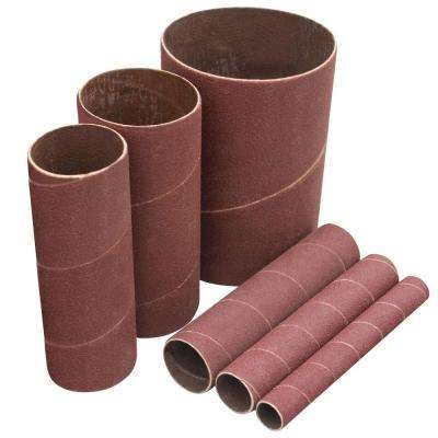4-1/2 in. x 3/4 in., 1 in. and 1-1/2 in. 120-Grit Sanding Sleeves (6-Pack)