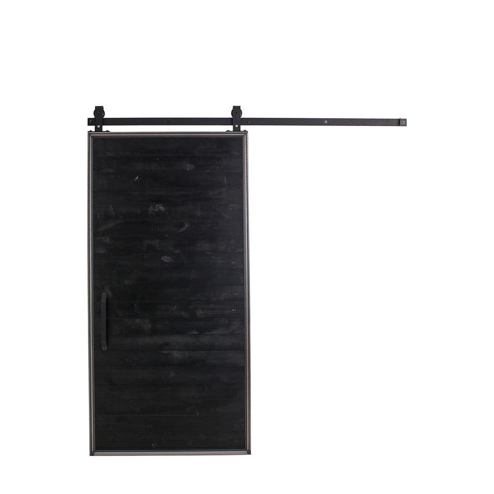 Charmant Rustica Hardware 42 In. X 84 In. Mountain Modern Wood Barn Door With Sliding  Door Hardware Kit HDTINB1MMRS   The Home Depot