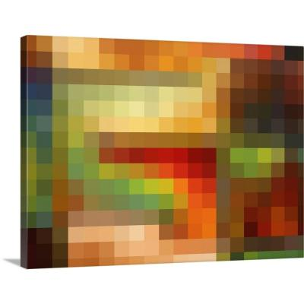 """Forgotten Promise Color Block"" by Megan Duncanson Canvas Wall Art"