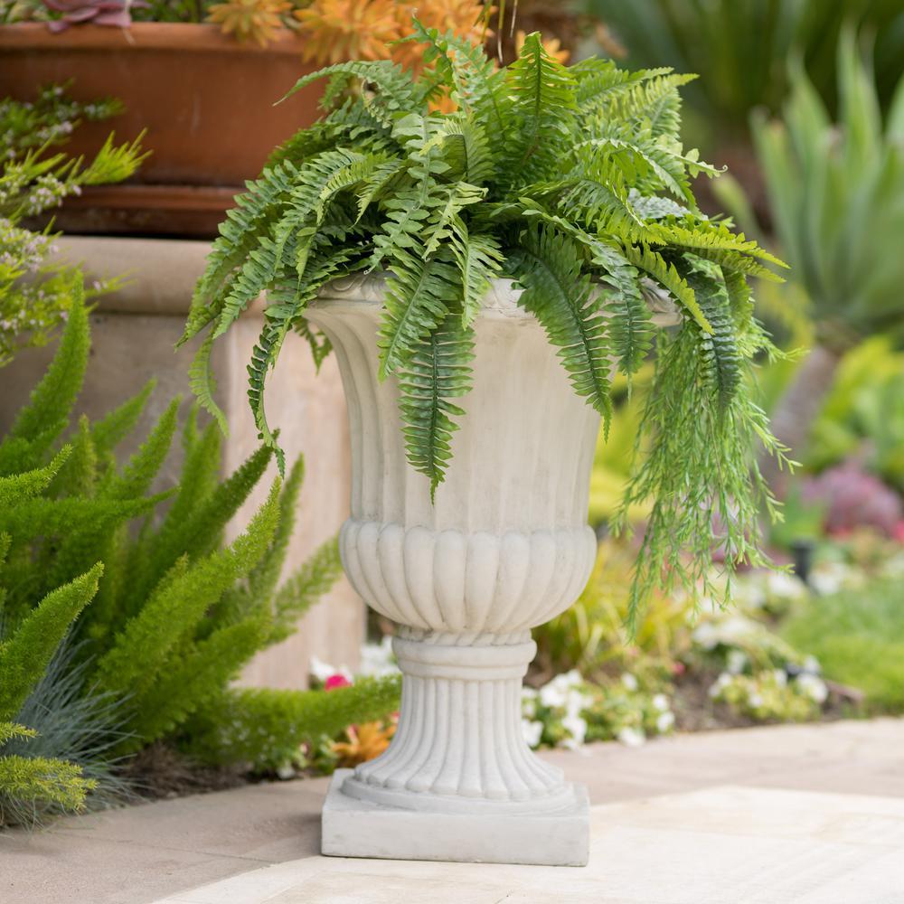 Noble House Antique White Italian 26-inch Urn Planter