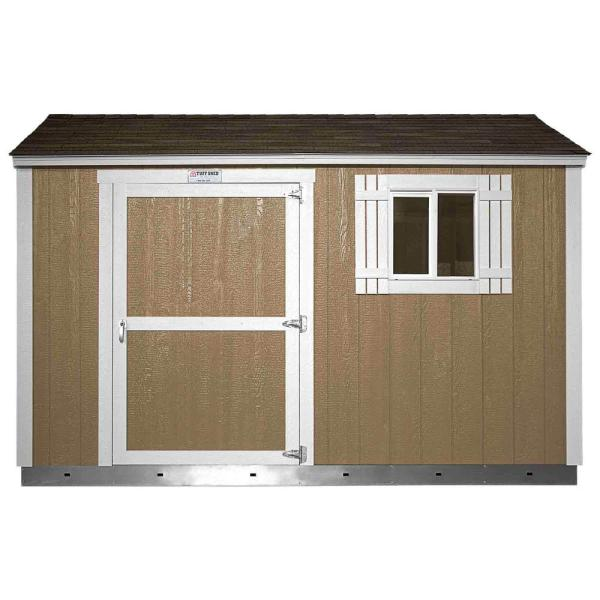 Installed The Tahoe Series Tall Ranch 8 ft. x 12 ft. x 8 ft. 6 in. Painted Wood Storage Building Shed and Sidewall Door