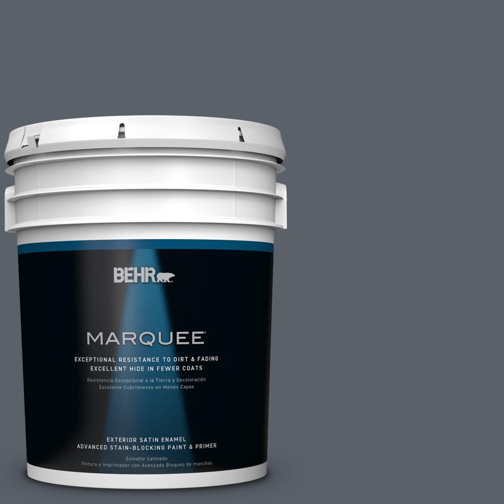 BEHR MARQUEE 5-gal. #HDC-AC-25 Blue Metal Satin Enamel Exterior Paint