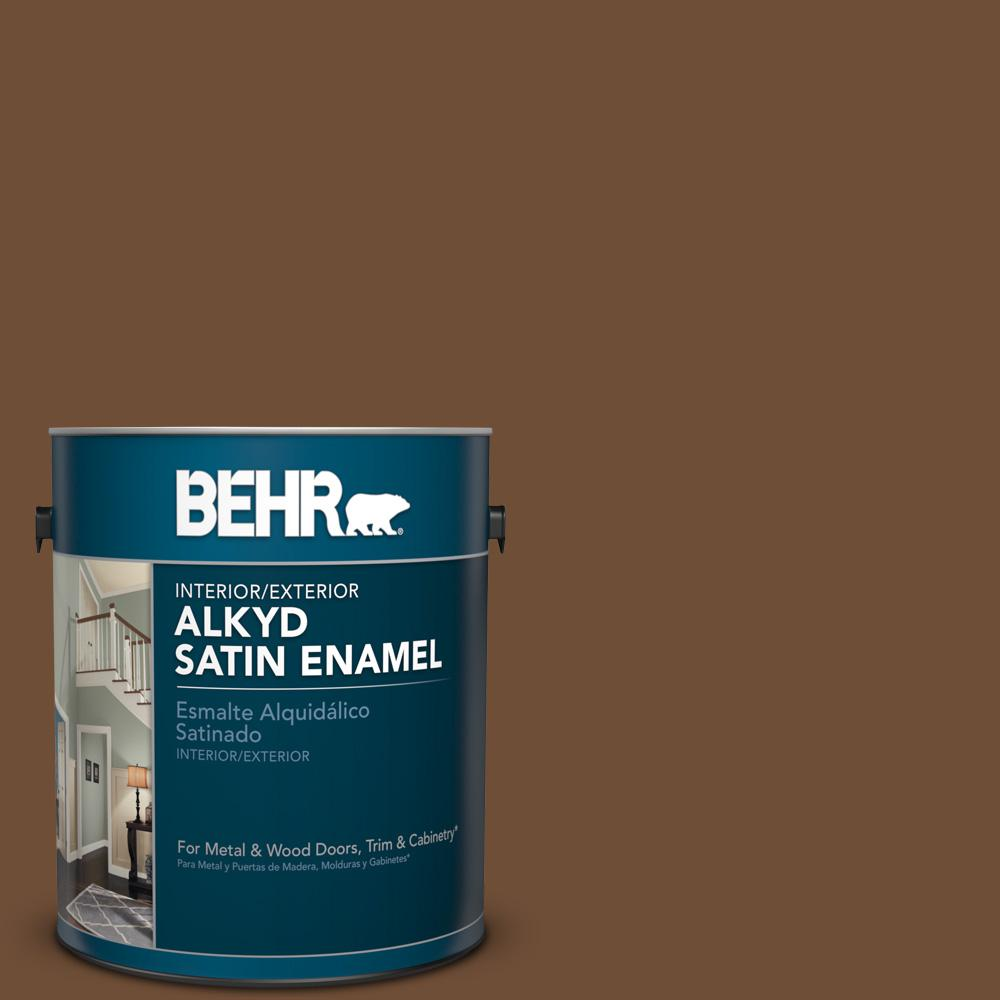 1 gal. #PPU4-20 Ancient Root Satin Enamel Alkyd Interior/Exterior Paint