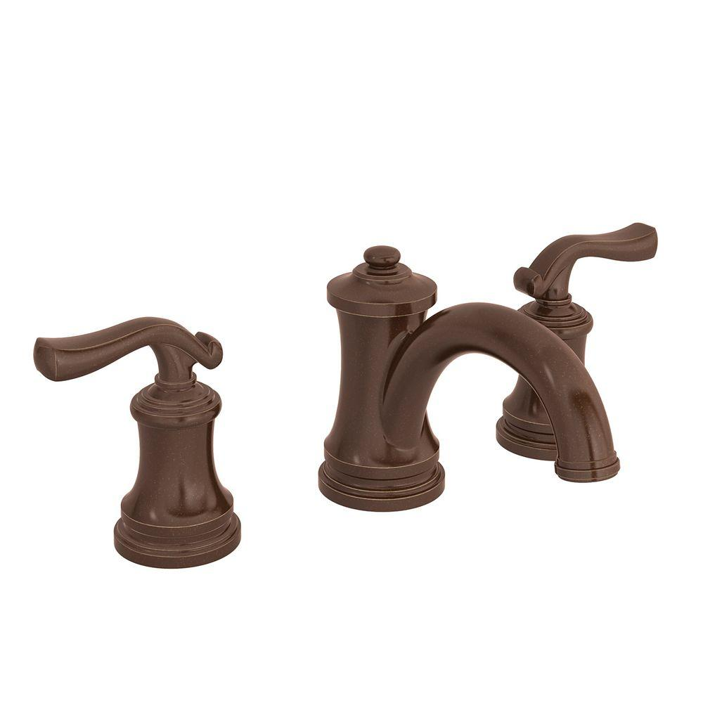 Symmons Winslet 8 In. Widespread 2-Handle Mid-Arc Bathroom Faucet In Oil Rubbed Bronze-SLW-5112