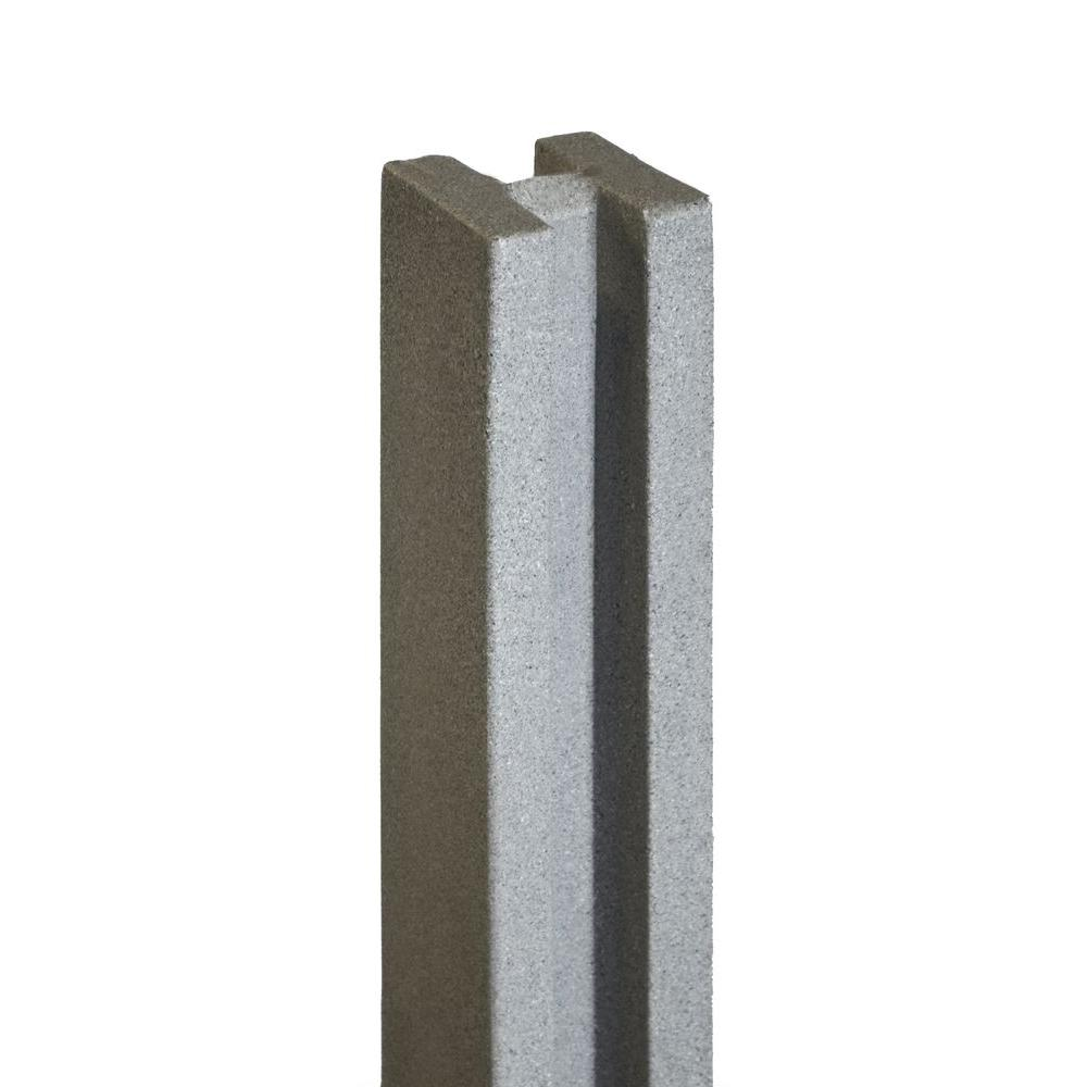 5 in. x 5 in. x 8-1/2 ft. Gray Composite Fence