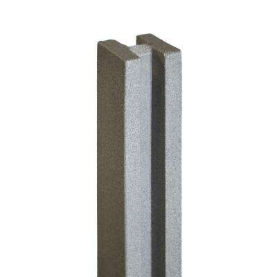 5 in. x 5 in. x 8-1/2 ft. Gray Composite Fence Line Post