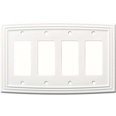 Metal 4 White Switch Plates Wall Plates The Home Depot