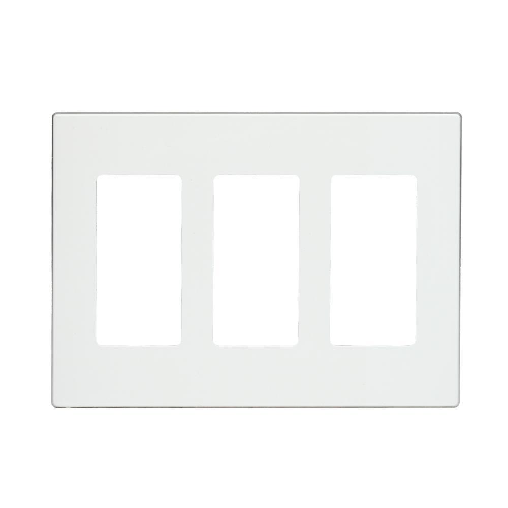 Lutron Claro 2 Gang Decorator Wallplate Gray Cw 2 Gr