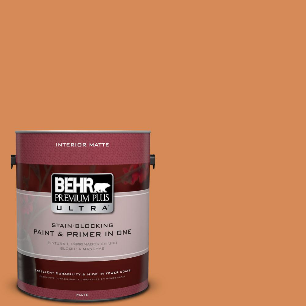 1 gal. #PMD-80 Spiced Pumpkin Flat/Matte Interior Paint