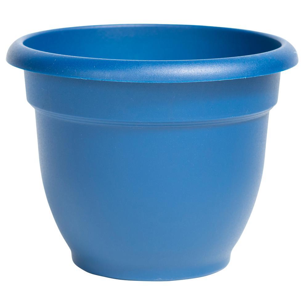 Ariana 10 in. Deep Sea Plastic Self Watering Planter