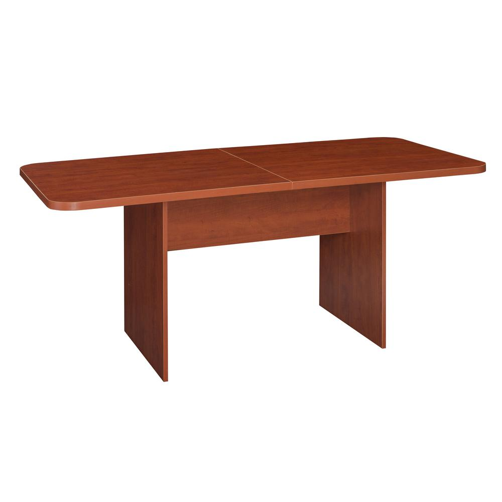 Mod Cherry No Tools Assembly 6 ft. Conference Table