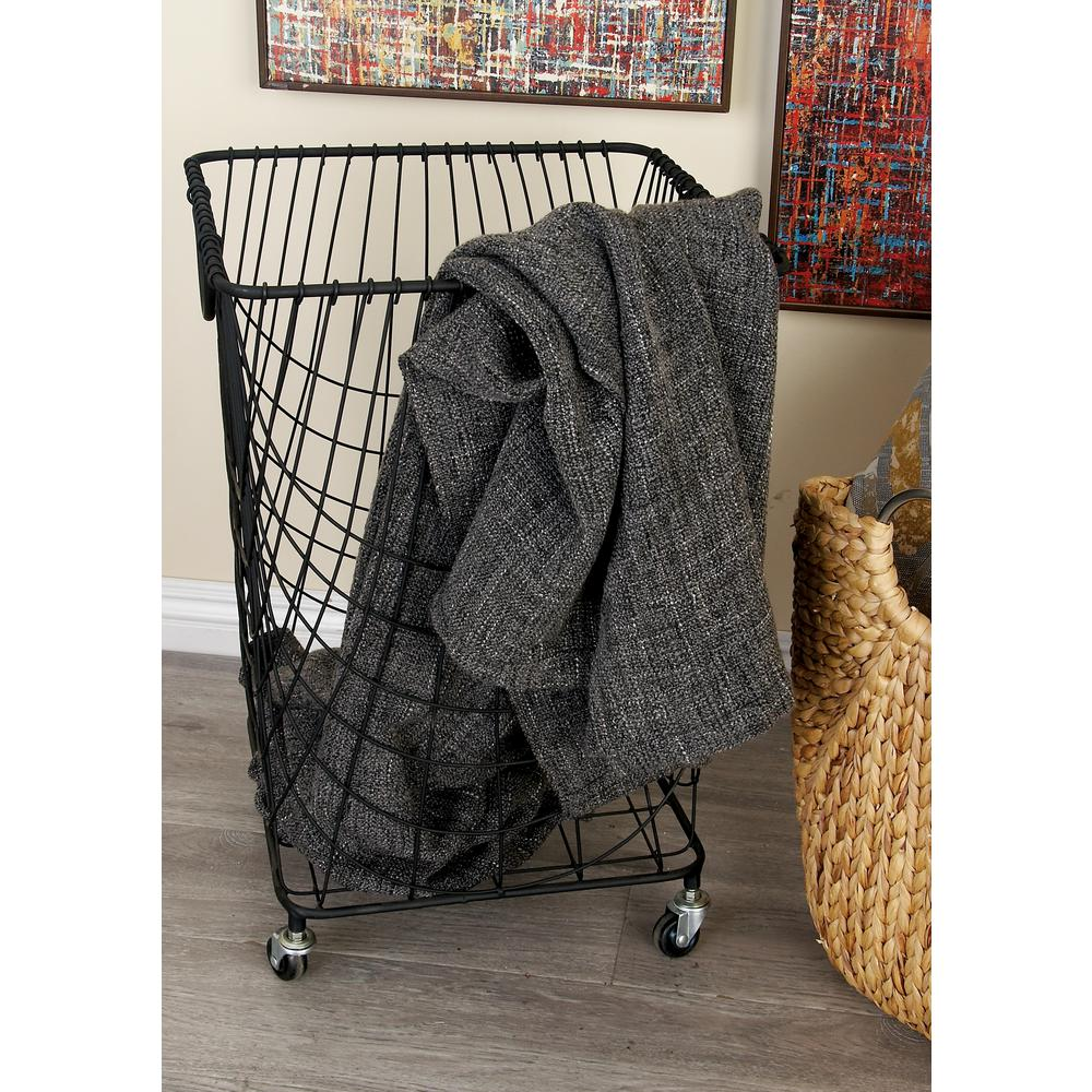 New Traditional Netting-Style Hamper Basket-29021 - The Home Depot