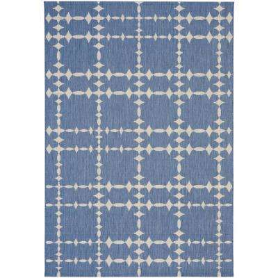 COCOCOZY Elsinore Tower Court Blueberry 8 ft. x 11 ft. Area Rug