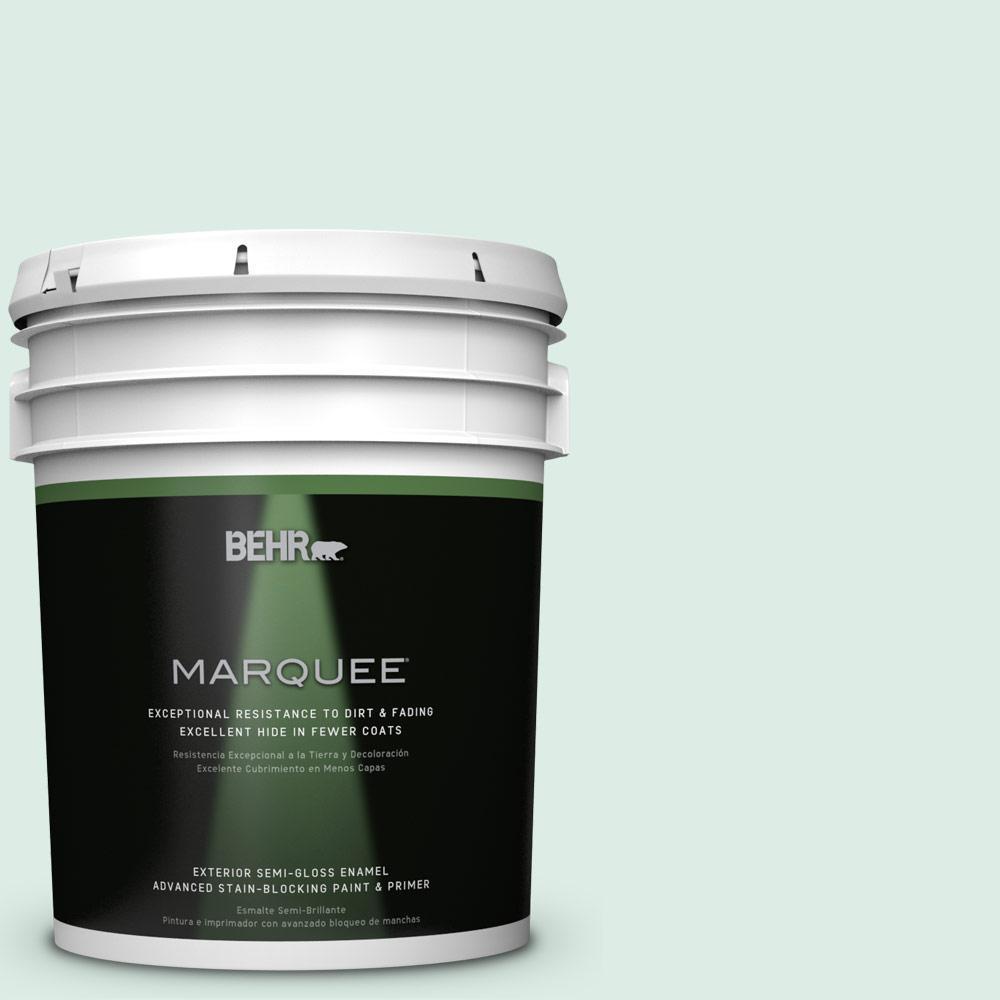 5-gal. #M420-1 Sparkling Brook Semi-Gloss Enamel Exterior Paint