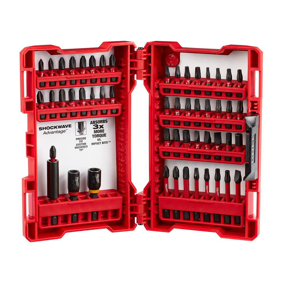 44-Piece Milwaukee Shockwave Impact Duty Driver Bit Set