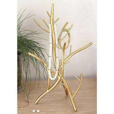 9 in. x 13 in. Gold Iron Twig Jewelry Holder
