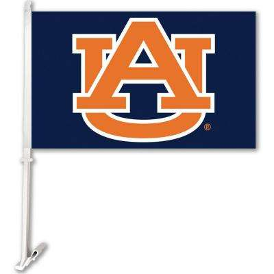 NCAA 11 in. x 18 in. Auburn 2-Sided Car Flag with 1-1/2 ft. Plastic Flagpole (Set of 2)