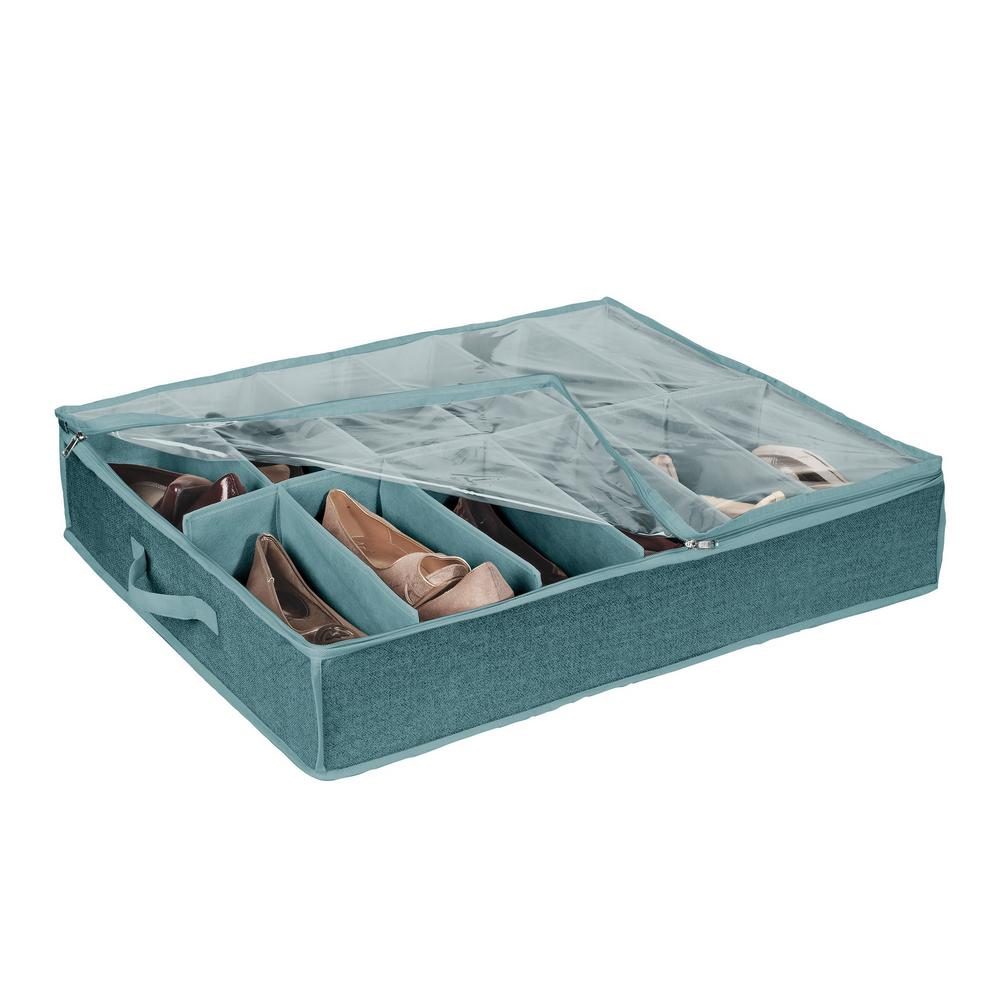Simplify 12-Pair Under-the-Bed Shoe Box