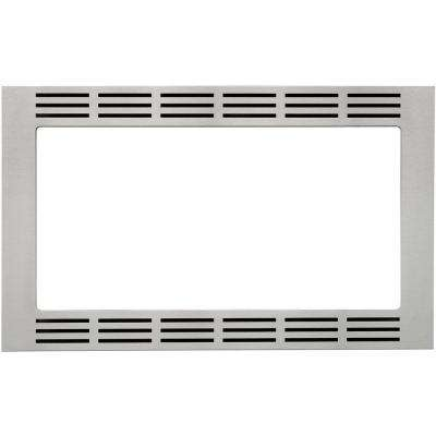 27 in. Wide Trim Kit for Panasonic's 1.2 cu. ft. Microwave Ovens in Stainless Steel