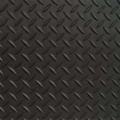 5 ft. x 25 ft. Black Textured PVC Rollout Flooring
