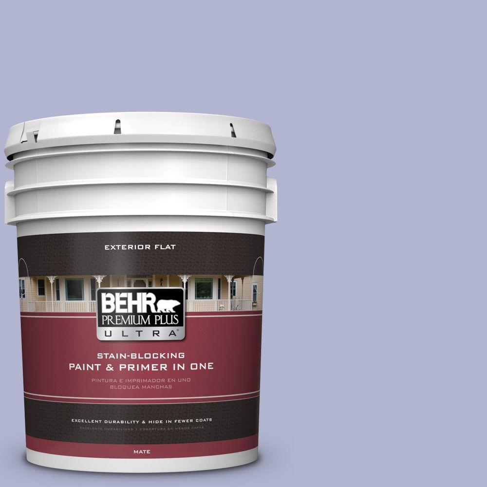 BEHR Premium Plus Ultra 5-gal. #620C-3 Purple Surf Flat Exterior Paint