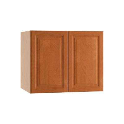 Ancona Ready to Assemble 30 x 24 x 12 in. Wall Cabinet with 2 Soft Close Doors in Cumin