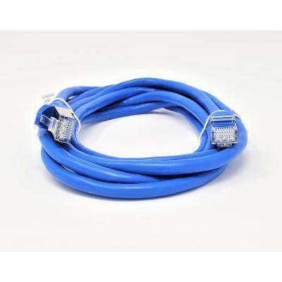10 ft. CAT 7 SFTP 26AWG Double Shielded RJ45 Snagless Ethernet Cable, Blue